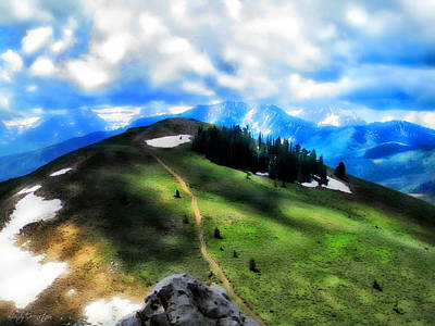 Blue Photograph - On Top Of The World  by Cindy Greenstein