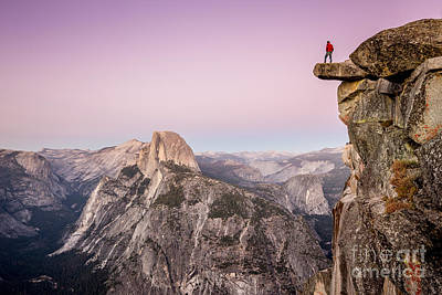 Overhang Photograph - On Top Of The World by JR Photography