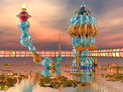 Modern Digital Art - On Vacation by Dave Martsolf