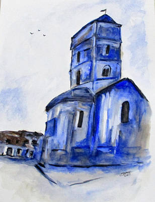 Painting - Once A Church by Clyde J Kell