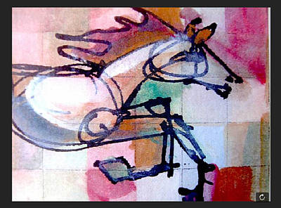 Drawing - Once A Knight by Chuck Snyder