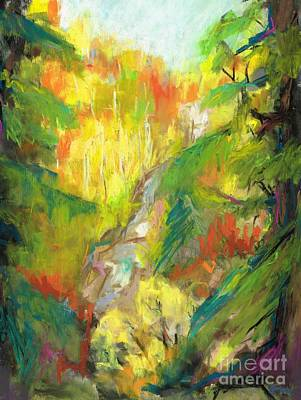 Once A Waterfalls Art Print by Frances Marino
