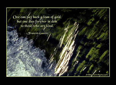 Once Can Pay Back A Loan Of Gold Art Print