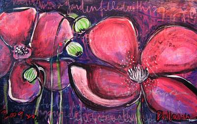 Painting - Once I Was In A Garden Filled With Poppies by Laurie Maves ART