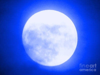 Photograph - Once In A Blue Moon by Carol Eliassen
