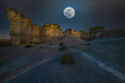 Photograph - Once In A Blue Moon by Darren White