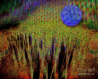 Digital Art - Once In A Blue Moon by Edmund Nagele