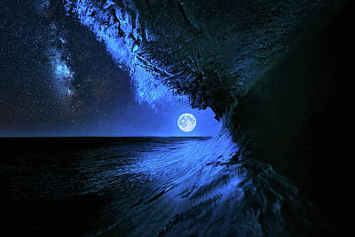 Photograph - Once In A Blue Moon by Justin Kelefas