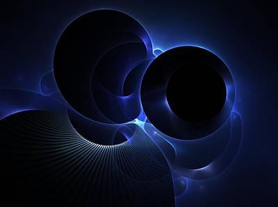 Digital Art - Once In A Blue Moon by Nancy Pauling