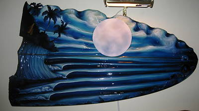 Sculpture - Once In A Blue Moon by Ronnie Jackson