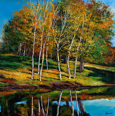 Birch Trees Painting - Once In A Lifetime by Johnathan Harris