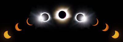 Photograph - Once In A Lifetime Stages Of A Total Solar Eclipse by Debra and Dave Vanderlaan