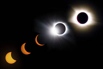 Photograph - Once In A Lifetime Stages Of A Total Solar Eclipse IIi by Debra and Dave Vanderlaan