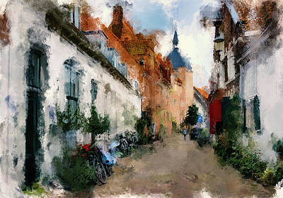 once in Europe town Art Print