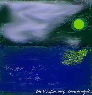 Once In Night Art Print by Dr Loifer Vladimir
