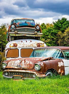 Old School Bus Photograph - Once Shiny Dreams by Steve Harrington