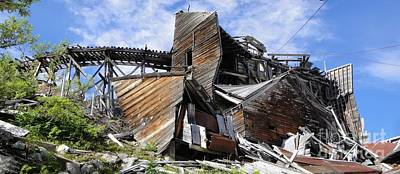 Independence Mine Photograph - Once There Was Gold by Ron Bissett