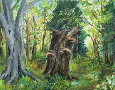 Painting - Once There Were Forests 1 by Wendy Le Ber