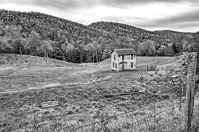 Photograph - Once Upon A Mountainside 2 Bw by Steve Harrington