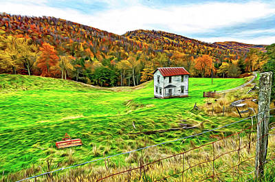 Photograph - Once Upon A Mountainside 2 - Paint by Steve Harrington
