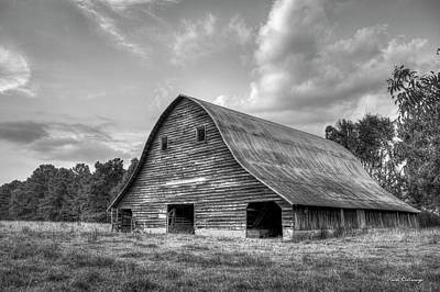 Rem Photograph - Once Upon A Time B W The Barn Philomath Georgia Art by Reid Callaway