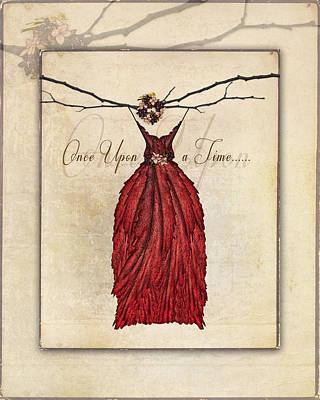 Digital Art - Once Upon A Time Fairie Dress by Christina VanGinkel