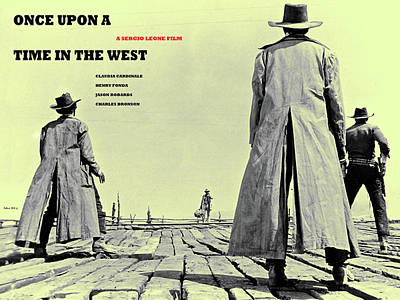 Once Upon A Time In The West, A Sergio Leone Film Art Print by Thomas Pollart