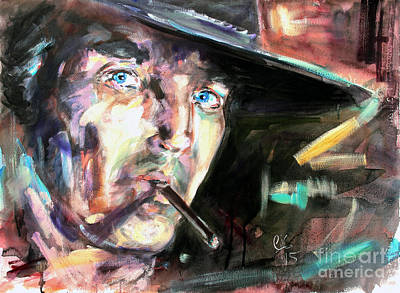 Painting - Once Upon A Time In The West by Ginette Callaway