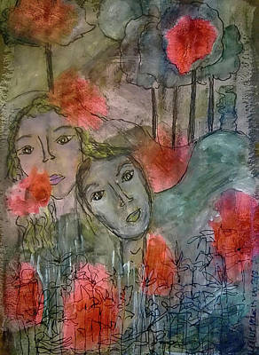 Mixed Media - Once Upon A Time by Mimulux patricia No