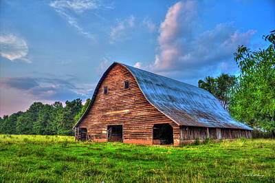 Rem Photograph - Once Upon A Time The Barn At Philomath Georgia by Reid Callaway