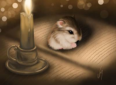 Candle Lit Painting - Once Upon A Time... by Veronica Minozzi