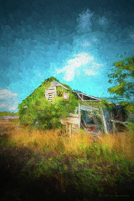 Overgrown Photograph - Once Was Home by Marvin Spates