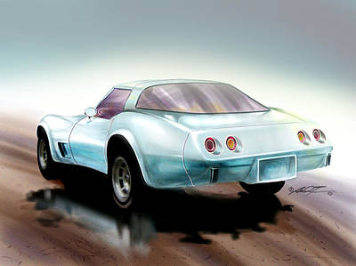 Painting - Once You Have Owned A Vette... by Dale Turner