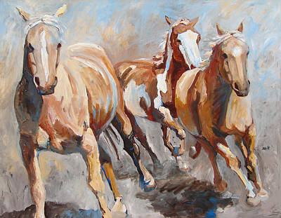 Pinto Painting - Oncoming by Eve Werner
