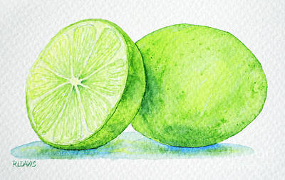 Painting - One And A Half Limes by Rebecca Davis