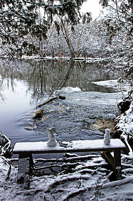 Photograph - One And A Half Snowmen by Debbie Oppermann