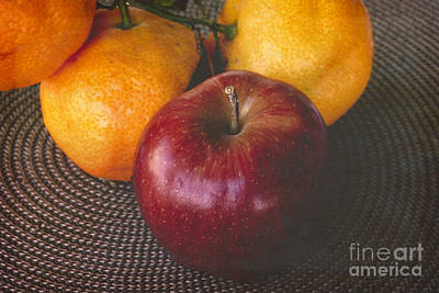 Photograph - One Apple Three Oranges by Ella Kaye Dickey