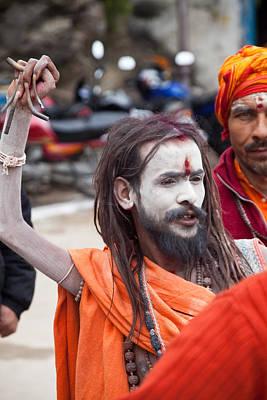 India Babas Photograph - One Arm Baba by John Battaglino