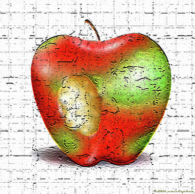 Rot Digital Art - One Bad Apple by Cristophers Dream Artistry