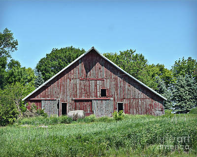 Photograph - One Bale One Barn by Kathy M Krause