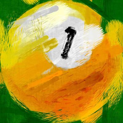Billiards Digital Art - One Ball Abstract by David G Paul
