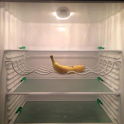 Banana Photograph - One Banana #one #banana #refrigerator by Lenkadimka Lenkadimka