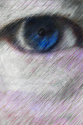 Mixed Media - One Blue Eye by Bill Owen