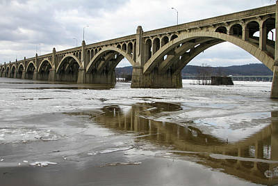 Photograph - One Bridge Over The Susquehanna River by Menachem Ganon