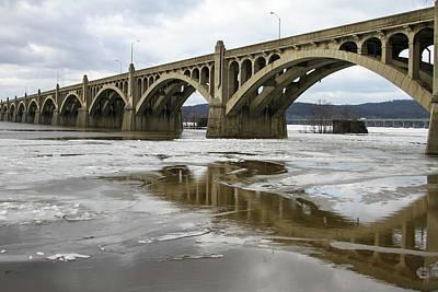 Photograph - One Bridge Over The Susquehanna River by Menachem Ganon