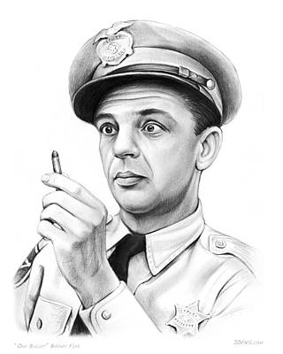 Don Knotts Drawing - One Bullet Fife by Greg Joens