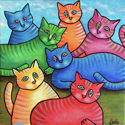 Painting - One Cat Two Cat Too by Lindi Levison