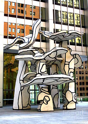 Photograph - One Chase Manhattan Plaza 1 by Randall Weidner