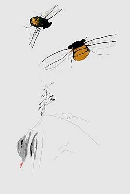 Digital Art - One Cicada Now Rwo by Debbi Saccomanno Chan
