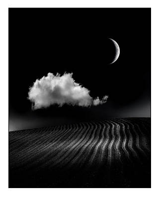 Moonlit Night Photograph - One Cloud by Mal Bray